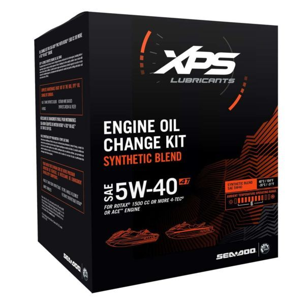 4T 5W-40 SYNTHETIC BLEND OIL CHANGE KIT FOR ROTAX 1500 CC OR MORE ENGINE